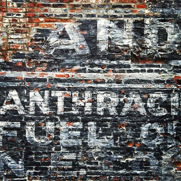 Old Painted Sign On Brick Wall Texture And Color In 2019