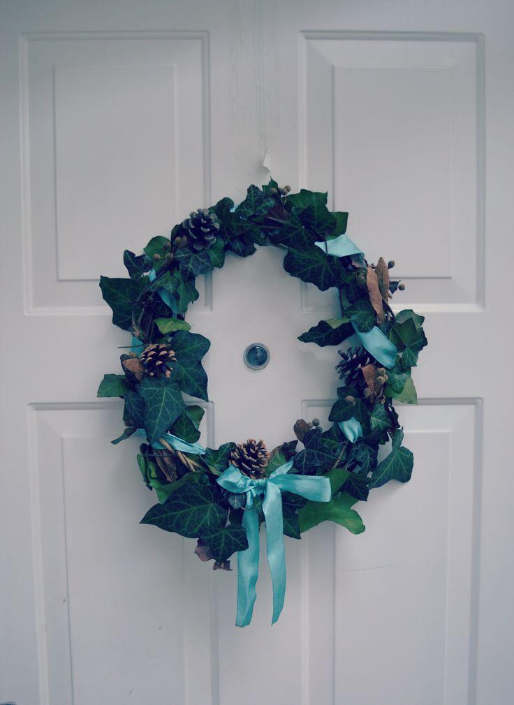 My DIY amber xmas wreath