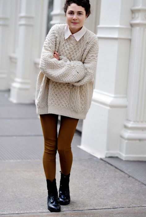 Fisherman's sweater!  This is my favorite outfit for fall/winter!  Forever!