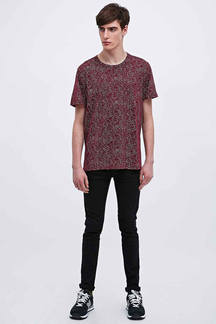 Shore Leave Space Print Tee in Burgundy