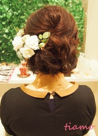 ボブでシニヨン風アップ&華やかカールアップ☆リハ編  大人可愛いブライダルヘアメイク『tiamo』の結婚カタログ Ameba (アメーバ)