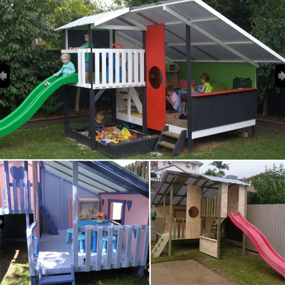 17 Best Images About Pallet Cubby Houses On Pinterest