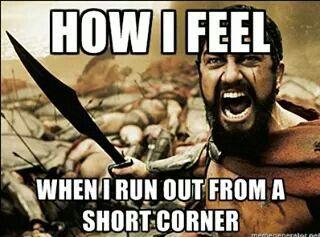 Short corner in field hockey...