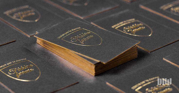 Golden business cards, gold edges Zlatá ražba so zlatou oriezkou ;)