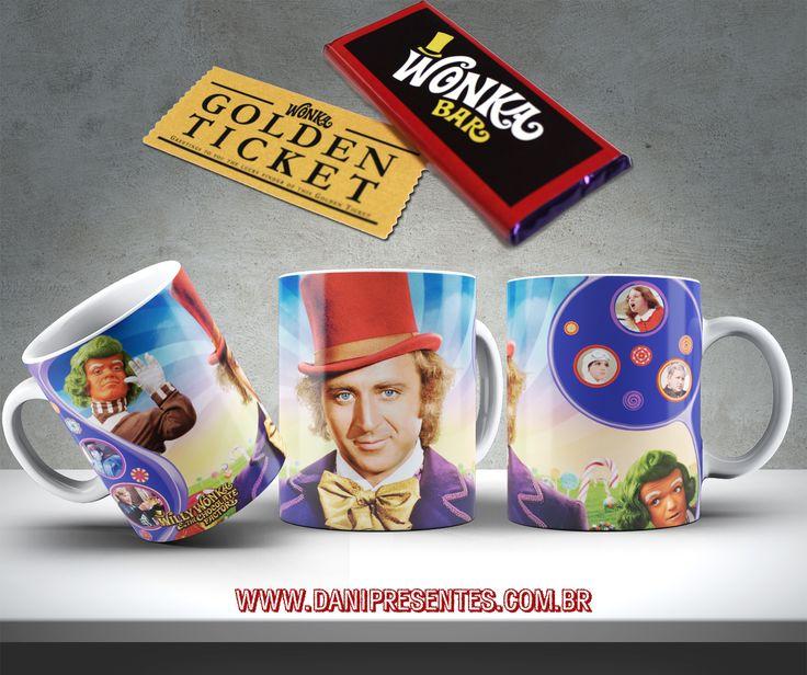 """Você se lembra de Willy Wonka e a Fantástica Fábrica de Chocolate? Na """"Sala do Chocolate"""" do filme, tudo era comestível 🍫🍫🍫!    http://www.danipresentes.com.br/caneca-a-fantastica-fabrica-de-chocolate-e-willy-wonka    #danipresentes #anos80 #nostalgia #filmesclassicos #presentescriativos #presentesdivertidos #canecapersonalizada #willywonka #afantasticafabricadechocolate #wonkabar"""
