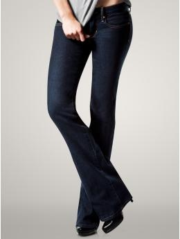 1969 Curvy Jeans at Gap...just bought a pair and I LOVE them!  Fits your curves well without gaping at the waist...slimming, too.  With how hard it is to find jeans, they're worth the $70.