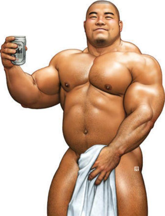 black gay muscle bear