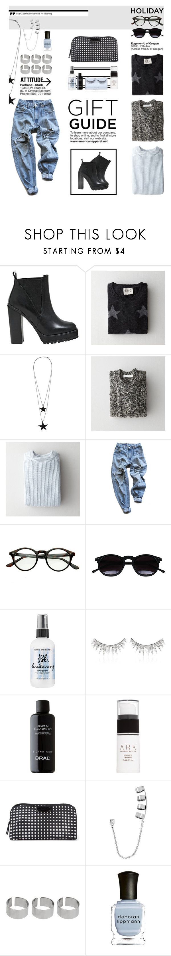 """""""Gift Guide"""" by allva ❤ liked on Polyvore featuring KG Kurt Geiger, Sea, New York, Pieces, Étoile Isabel Marant, Le Mont St. Michel, Levi's, Chicnova Fashion, Bumble and bumble, shu uemura and Ark"""