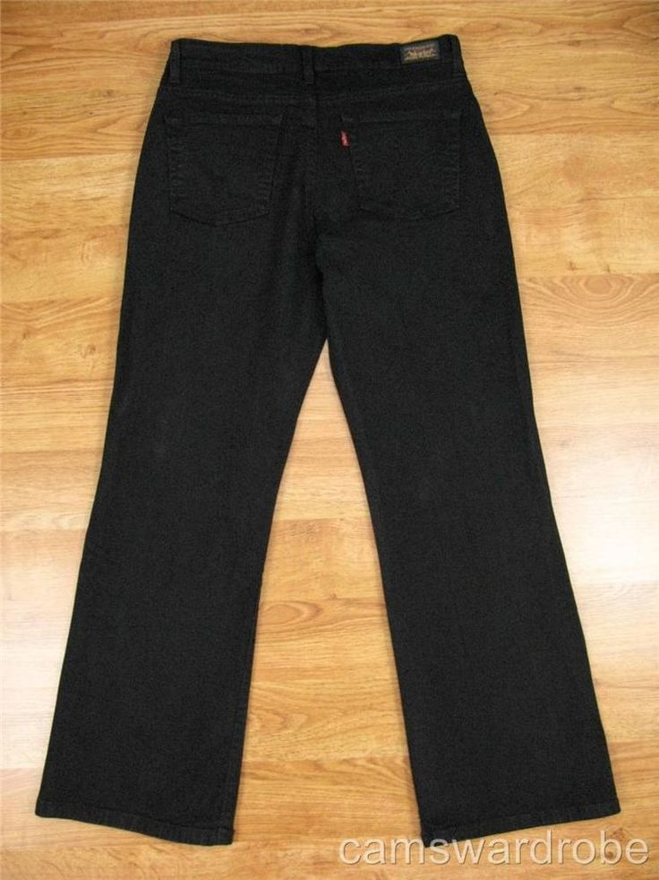 """LEVIS 512 """"Perfectly Slimming"""" Slimming Panel Bootcut Black Jeans 12 Length 28"""" #Levis #BootCut"""