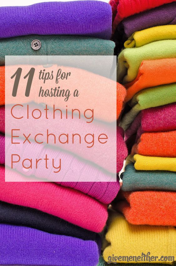 Spend time with friends, eat good food, and come home with free new-to-you clothes. Here are all the tips you need for making a clothing exchange party a success.