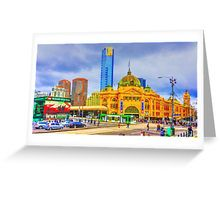 Flinders Street Station -- No Distracting Wires Greeting Card
