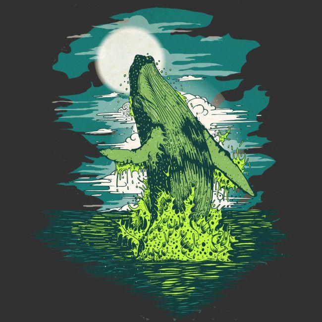 Ballenas is a T Shirt designed by monsterbirdcav to illustrate your life and is available at Design By Humans por que las ballenas son unas de las cosas mas nobles en este planeta que están quedando......conciencia...