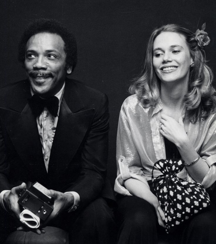 quincy jones and peggy lipton • 1977