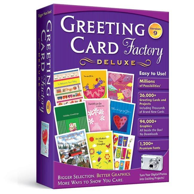 Greeting Card Factory Deluxe 9 | Greeting Card Software | Nova Development