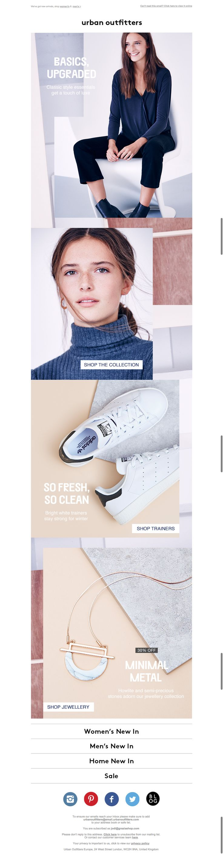 urban outfitters fashion email