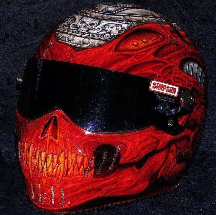 Best Awesome Helmets Images On Pinterest Motorcycle Helmets - Custom motorcycle helmet stickers and decalssimpson motorcycle helmets