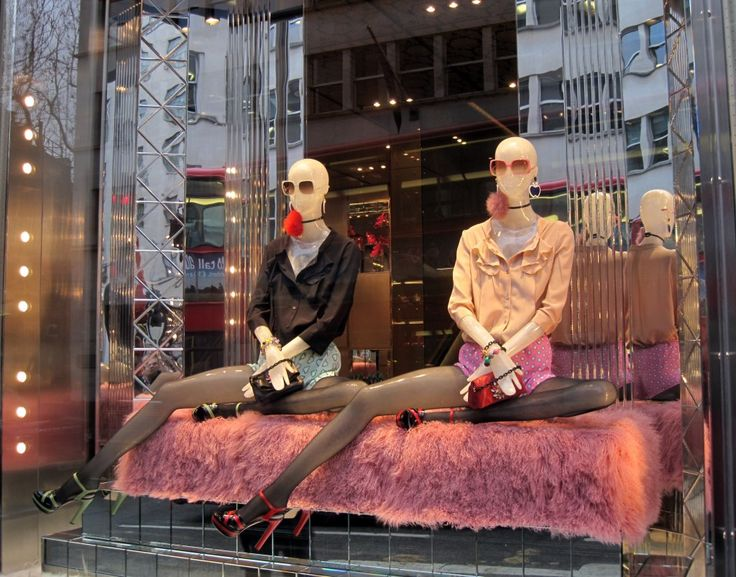 "MIU MIU,London,UK, ""Let's start with some simple breathing exercises Sandra before we enter the store"", pinned by Ton van der Veer"