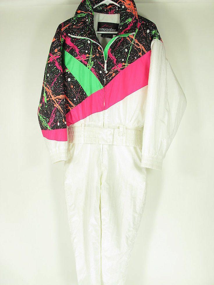Snuggler Seattle Retro Vintage 80s Neon Ski Snow Suit One Piece Women 8 | eBay