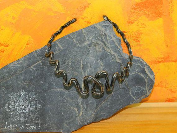 choker necklace wrought iron vicking style