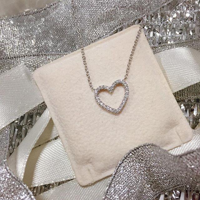 Girocollo in oro bianco con cuore di diamanti 0,20ct G VS - CICALA - Cicala.it