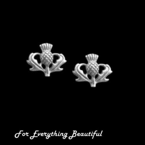 For Everything Genealogy - Thistle Floral Emblem Small Sterling Silver Stud Earrings , $35.00 (http://foreverythinggenealogy.mybigcommerce.com/thistle-floral-emblem-small-sterling-silver-stud-earrings/)