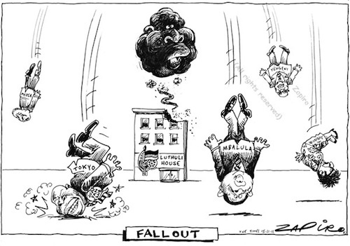 This is a cartoon by South African cartoonist Zapiro. Click on it and check out what it's all about.
