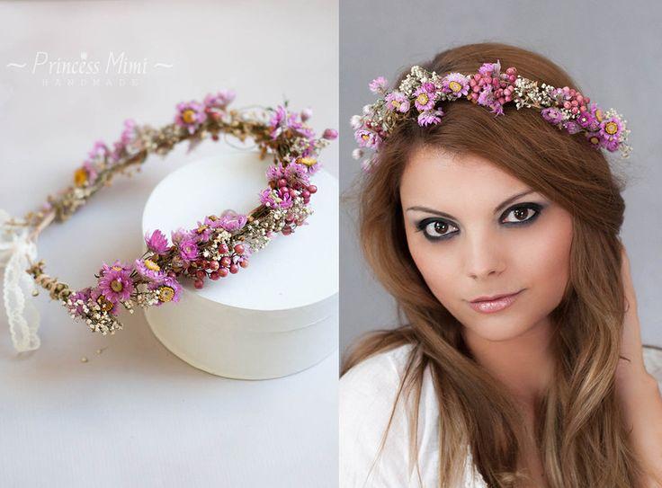 Blumenkranz Haarkranz Haarband Braut Haarschmuck von Princess Mimi auf DaWanda.com