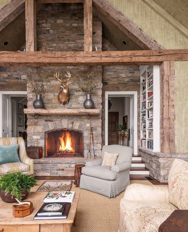 Best 25+ Cabin Fireplace Ideas On Pinterest