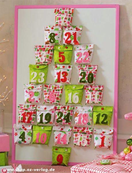 DIY 2 Adventskalender nähen, Wichtelkalender oder mit Säckchen