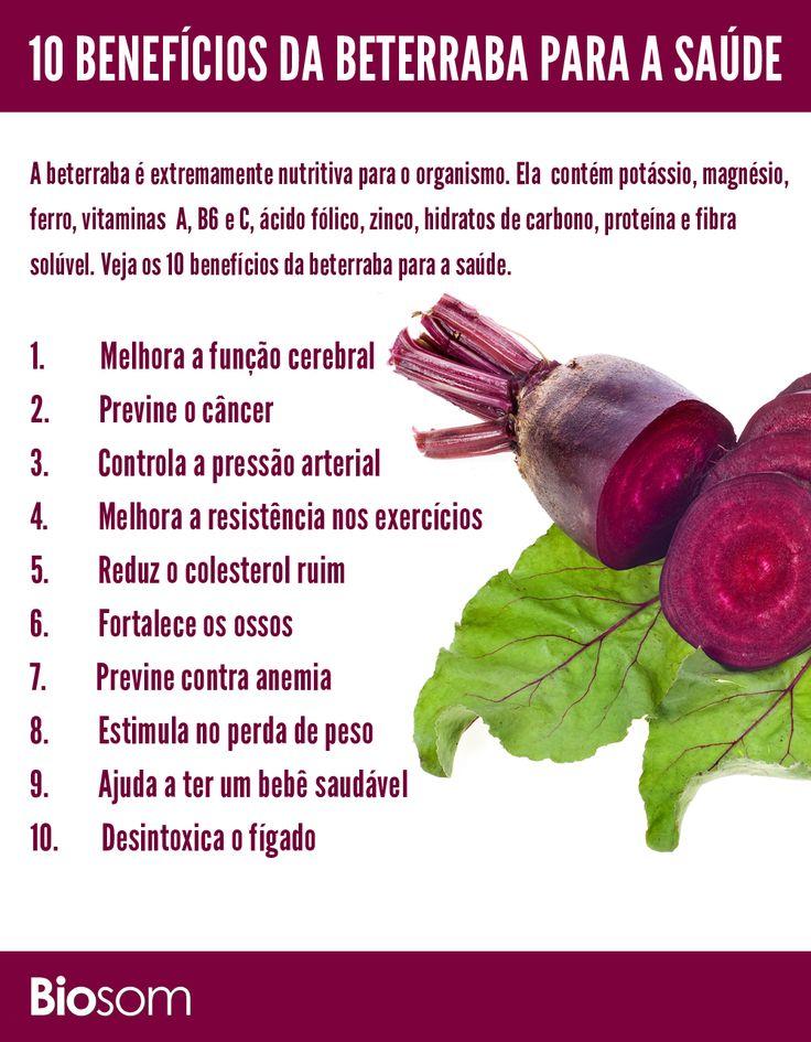 Clique na imagem e veja os 10 benefícios da beterraba para a saúde. #alimento…