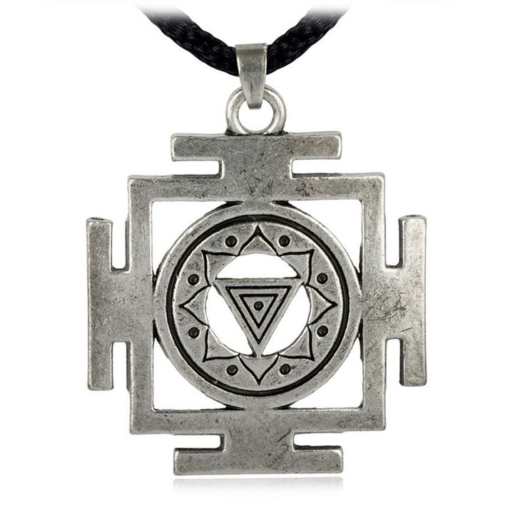 EZEI Kali Yantra of Transformation Hindu Goddess Pendant Tantric Yoga Hindi Jewelry