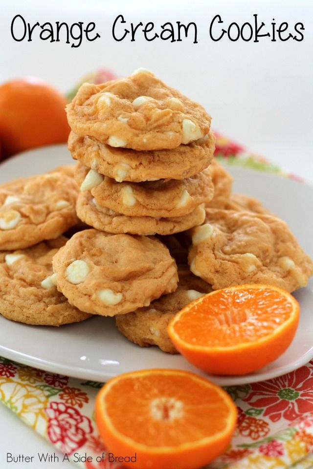 Orange Cream Cookies  #recipe #cookies from Butter With A Side of Bread