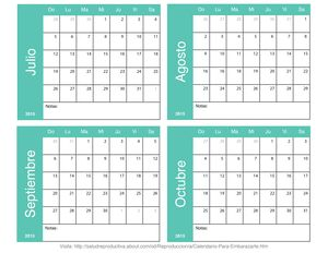 Calendario para embarazarte de septiembre a diciembre: Planea tu embarazo de julio a octubre