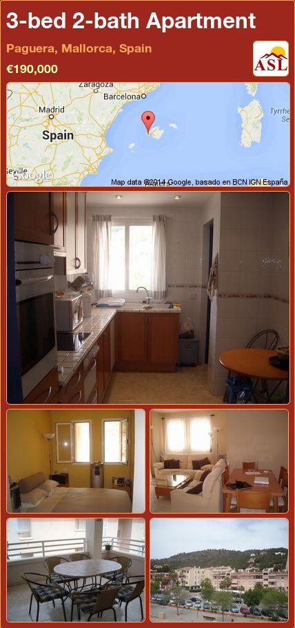 3-bed 2-bath Apartment in Paguera, Mallorca, Spain ►€190,000 #PropertyForSaleInSpain