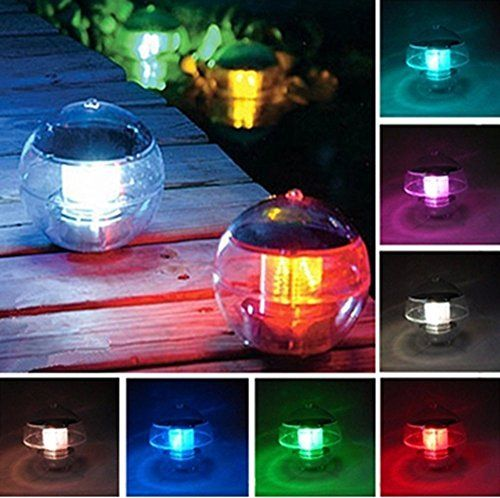 eveltek solar floating pool lightsolar powered led night light lamp ball for swimming poolgarden and party decor outdoor waterproof pond path landscape