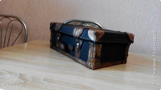 Кожаный чемоданчик из обувной коробки
