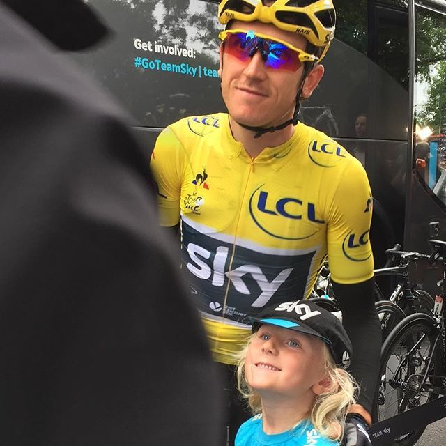 You look great in yellow Geraint Thomas TDF2017 @cyclingimages