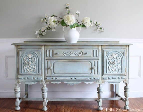 RESERVED for Bridget Antique Refinished by ErikaSzilvaiDesign
