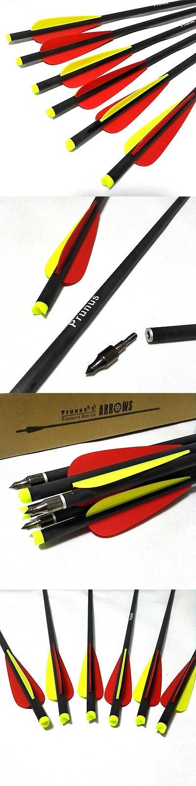 Crossbow Bolts 181309: Prunus Archery 20-Inch Carbon Crossbow Arrows Bolts With Change... Free Shipping BUY IT NOW ONLY: $35.62