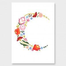 Flower Moon Art Print by Wild Wagon