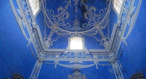 Tecto da escadaria do Palácio Amarelo de Portalegre | Portugal