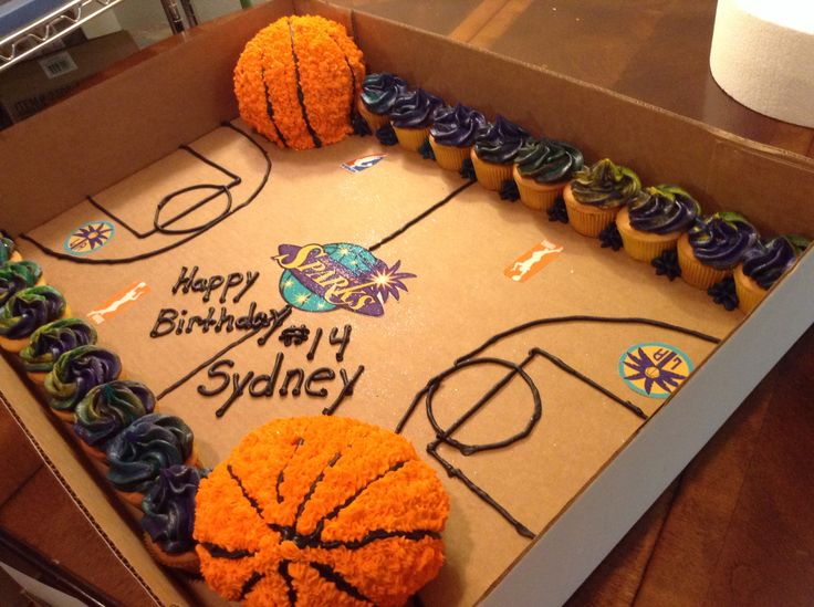 Easy Basketball Cake Decorating Ideas : WNBA Sparks basketball cakes and cupcakes EPIPHANIES ...
