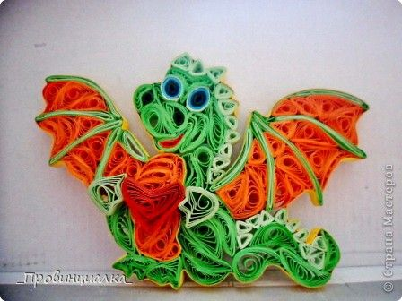 Photo-Quilling what a cute guy!