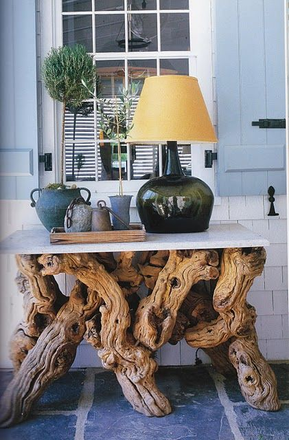 Tree trunks tableNature Wood, Gnarly Driftwood, Nature Tables, Driftwood Art, Interiors Design, Sitting Room, Driftwood Tables, Driftwood Ideas, Decorinterior Design