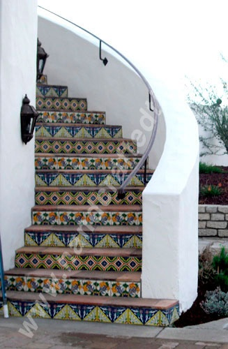Talavera risers. Want these under my back sliders and threshold of front door