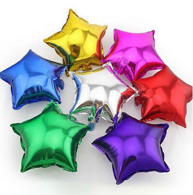 5 pcs/lot 2016 New Romantic Wedding Decor 25CM Star Foil Helium Balloons Birthday Wedding Anniversary Party Supplies