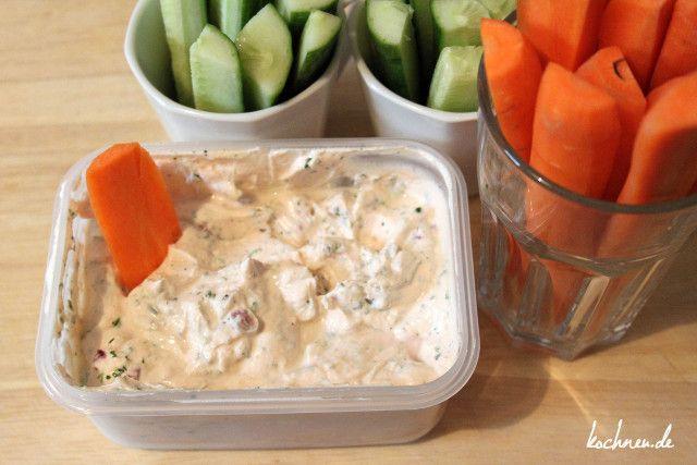 Rezept: Gemüse-Sticks mit Dip - Kochneu