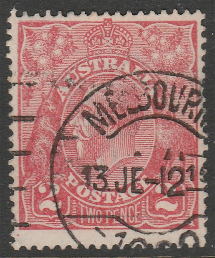 KGV Heads 2d KGV Red BW96 Single wmk  Shade Unknown. Find more KGV Heads at Stamp Shop