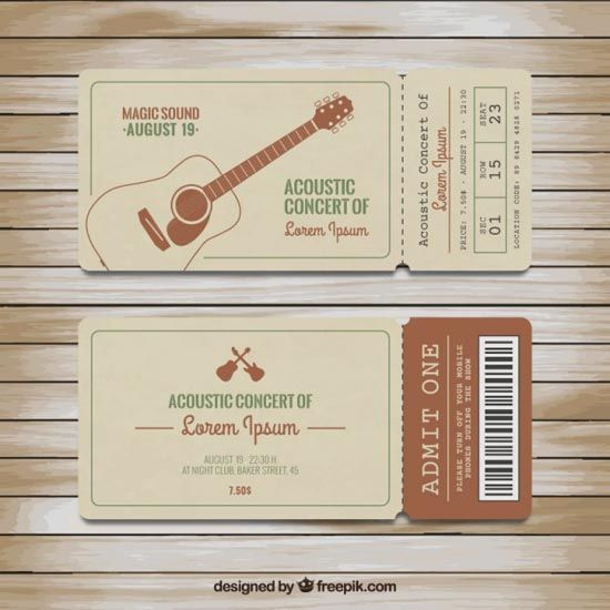 The 25+ best Concert ticket template ideas on Pinterest Ticket - event tickets template word