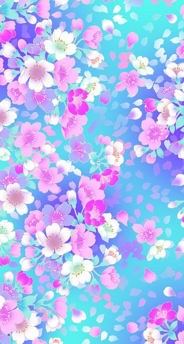 bright cheerful flowers wallpaper iphone background